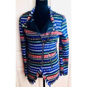 Aniina tweed fringed Moto jacket